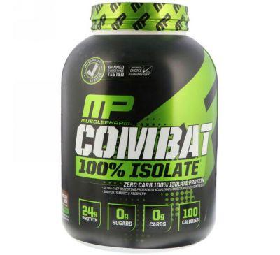 MusclePharm, 100%-ый изолят Combat, шоколадное молоко, 5 фунтов (2268 г)