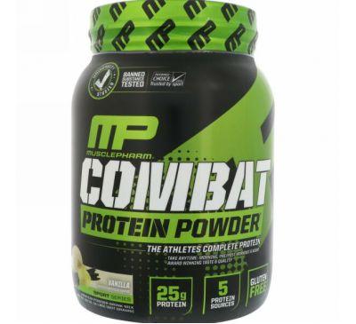 MusclePharm, Combat белок в форме порошка, ваниль, 32 унции (907 г)
