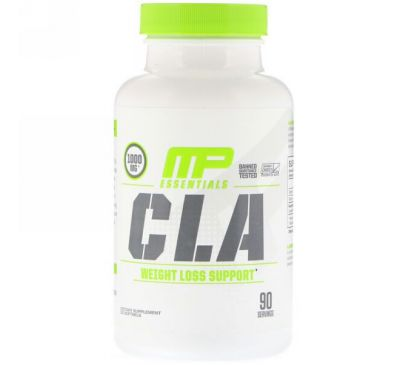 MusclePharm, Essentials, CLA, 1000 мг, 90 мягких таблеток