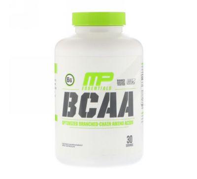 MusclePharm, Essentials, аминокислоты с разветвлённой цепью, 240 капсул