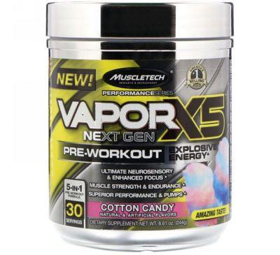 Muscletech, VaporX5 Next Gen Pre-Workout, Cotton Candy, 8.61 oz (244 g)