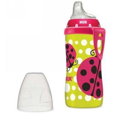 NUK, Чашка-непроливайка с божьей коровкой, с 12 месяцев, 10 унц (300 мл)