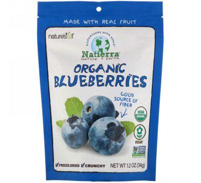 Natierra, Organic Freeze-Dried, Blueberries, 1.2 oz (34 g)