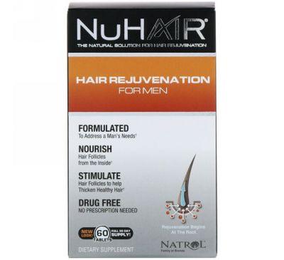 Natrol, NuHair, восстановление волос для мужчин, 60 таблеток