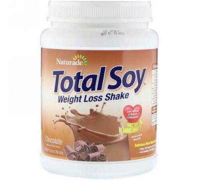 Naturade, Total Soy, коктейль для похудения, шоколадный вкус, 19,1 унц. (540 г)