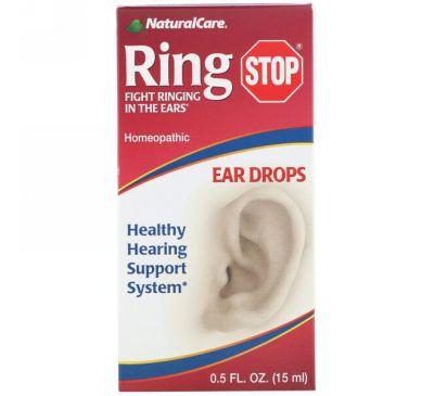 NaturalCare, Капли от звона в ушах, 0.5 жидких унций (15 мл)