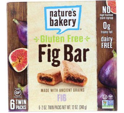 Nature's Bakery, Безглютеновый батончик из инжира, инжир, 6 двойных упаковок, по 2 унц. каждый