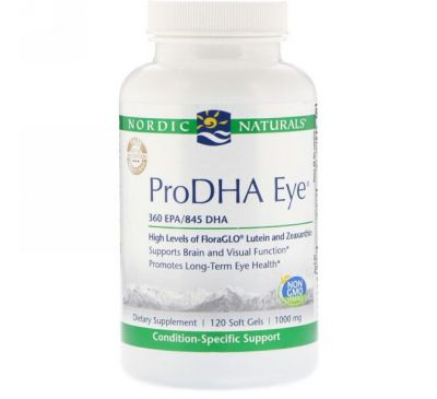 Nordic Naturals, ProDHA Eye, 1000 mg, 120 Softgels