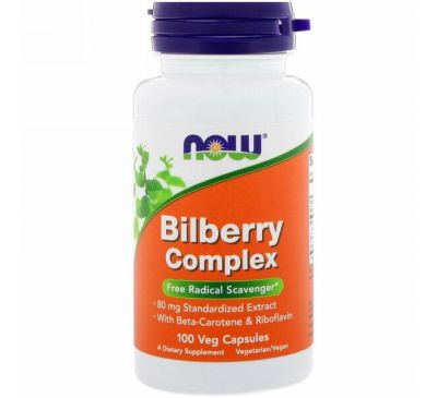 Now Foods, Bilberry Complex, 100 Veg Capsules