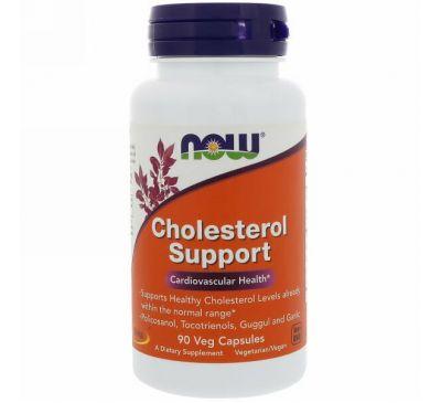 Now Foods, CholesterolSupport, 90 капсул в растительной оболочке
