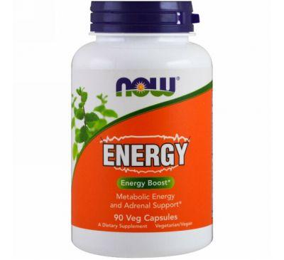 Now Foods, Energy, 90 капсул в растительной оболочке