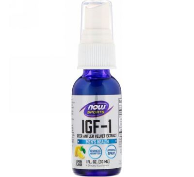 Now Foods, IGF-1, Deer Antler Velvet Extract, Lemon Flavor, 1 fl oz (30 ml)