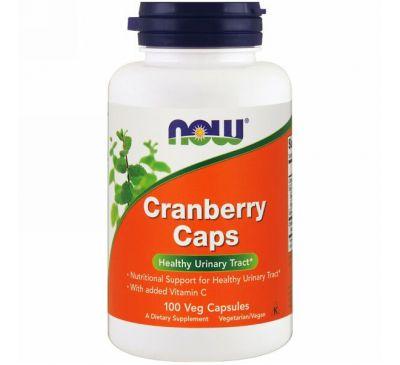 Now Foods, Клюквенные капсулы, 100 растительных капсул