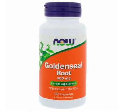 Now Foods, Корень гидрастиса канадского, 500 мг, 100 капсул