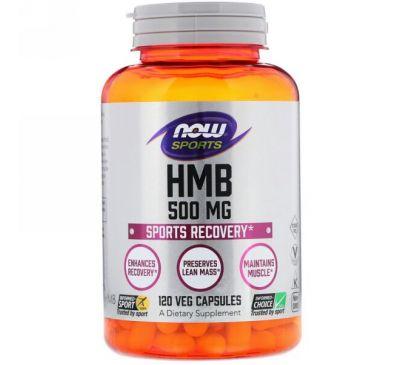 Now Foods, Now Sports, HMB, 500 mg, 120 Veggie Caps