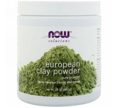 Now Foods, Solutions, European Clay Powder, 397 г (14 унций)