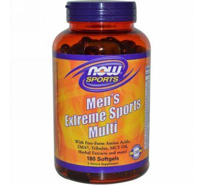 Now Foods, Спортивная мультидобавка для мужчин, 180 мягких желатиновых капсул
