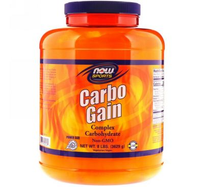 Now Foods, Sports, Carbo Gain, 8 фунтов (3629 г)