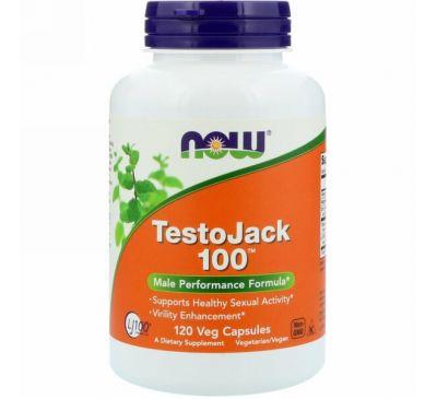 Now Foods, TestoJack 100, 120 растительных капсул