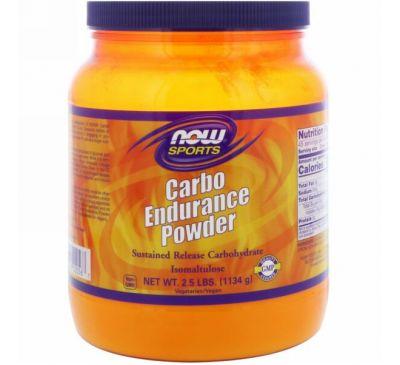 Now Foods, Углеводный порошок для повышения выносливости на основе изомальтулозы, 2,5 фунта (1134 г)