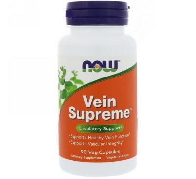 Now Foods, Vein Supreme, 90 растительных капсул