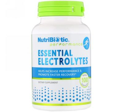 NutriBiotic, Essential Electrolytes , 100 веганских капсул