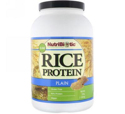 NutriBiotic, Растительный рисовый белок, 3 фунта (1,36 кг)