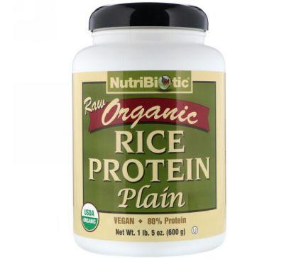 NutriBiotic, Сырой органический рисовый белок, 600 г