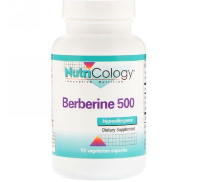 Nutricology, Берберин 500, 90 вегетарианских капсул