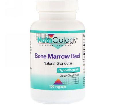 Nutricology, Говяжий костный мозг, натуральный эндокринный препарат, 100 вегетарианских капсул