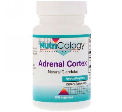 Nutricology, Кора надпочечиков, натуральный эндокринный продукт, 100 капсул в растительной оболочке