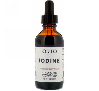 Ojio, Иод, раствор Люголя 2%, 2 жидких унции (60 мл)