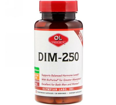 Olympian Labs Inc., DIM-250, 30 вегетарианских капсул