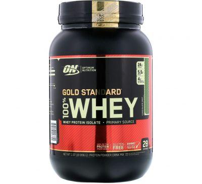 Optimum Nutrition, 100% сыворотка золотого стандарта, с шоколадом и мятой, 1.97 фунта (896 г)