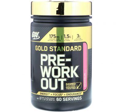 Optimum Nutrition, Добавка для приема перед тренировкой Gold Standard Pre-Workout, арбуз, 600 г
