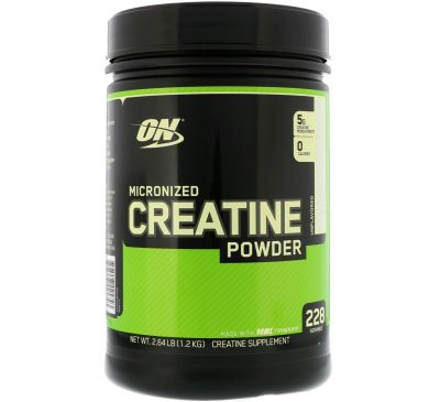 Optimum Nutrition, Микронизированный креатин, порошок, без запаха, 2,64 фунта (1,2 кг)