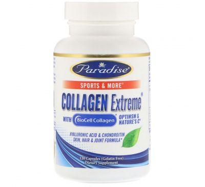 Paradise Herbs, Коллаген Экстрим с BioCell-Коллагеном, 120 капсул