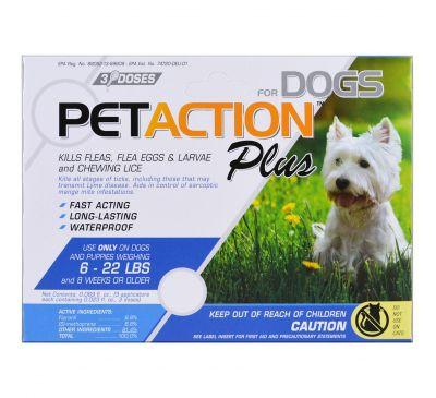 PetAction Plus, Для маленьких собак, 3 дозы - 0,023 ж. унц.