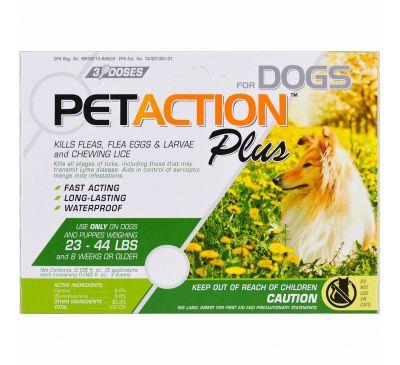 PetAction Plus, Для средних собак, 3 дозы, 0,045 ж. унц.