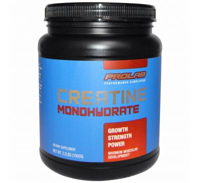 ProLab, Моногидрат креатина, 2,2 фунта (1000 г)