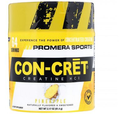 Promera Sports, Con-Cret Creatine HCl, ананас, 2,17 унц. (61,4 г)