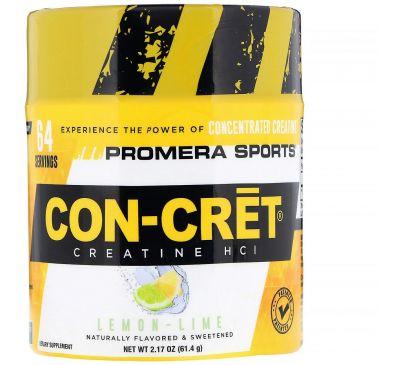 Promera Sports, Креатин Con-Cret HCl, лимон-лайм, 2,17 унции (61,4 г)
