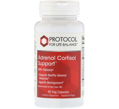 Protocol for Life Balance, Адреналиново-кортизольная поддержка, 90 вегетарианских капсул