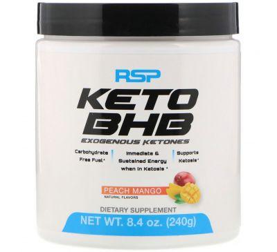 RSP Nutrition, Keto BHB, персик и манго, 8,4 унции (240 г)