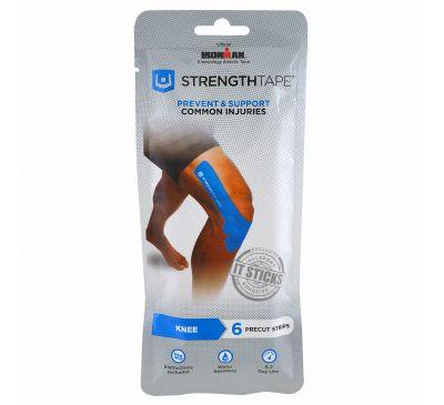 Strengthtape, Кинезиологическая лента, колено, 6 предварительно нарезанных лент