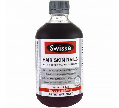 Swisse, Ultiboost, волосы, кожа, ногти, 16,9 унции (500 мл)