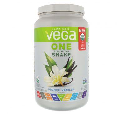 Vega, One, коктейль «все в одном», французская ваниль 24,3 унц. (689 г)