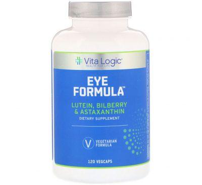 Vita Logic, Формула для глаз, 120 капсул с оболочкой из ингредиентов растительного происхождения
