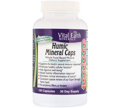 Vital Earth Minerals, Гуминовые минеральные капсулы, 120 капсул