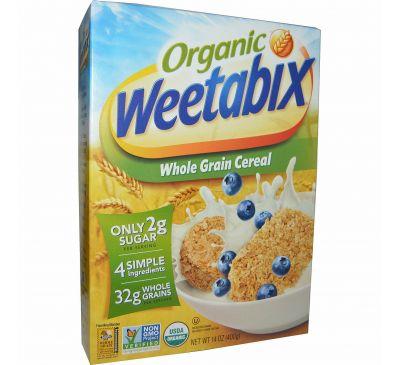 Weetabix, Органическая, цельнозерновая каша, 14 унций (400 г)